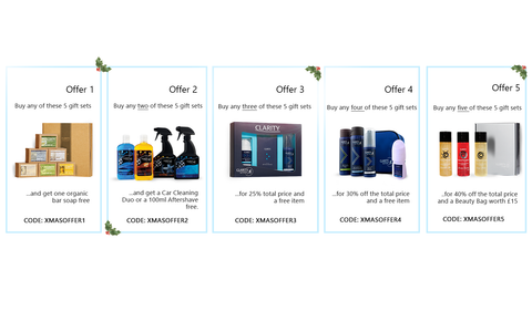 Christmas offers x 5