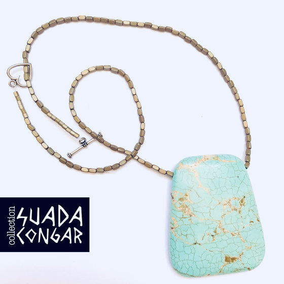 Precious Stones Collection -Turquoise Stone Necklace