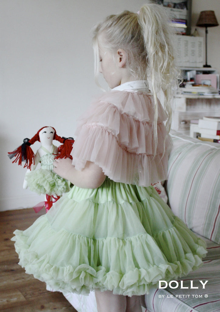 DRAGONFLY FAIRY Pettiskirt Champs-Elysees Green (small 3-6 Years + free doll size)