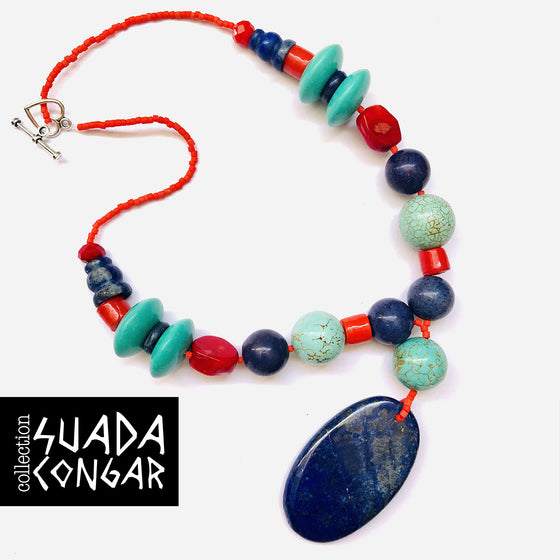 From The Sea - Lapis Lazuli Necklace