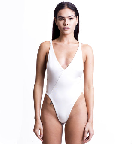 Keke Reversible Swimsuit NU1 X BLANC