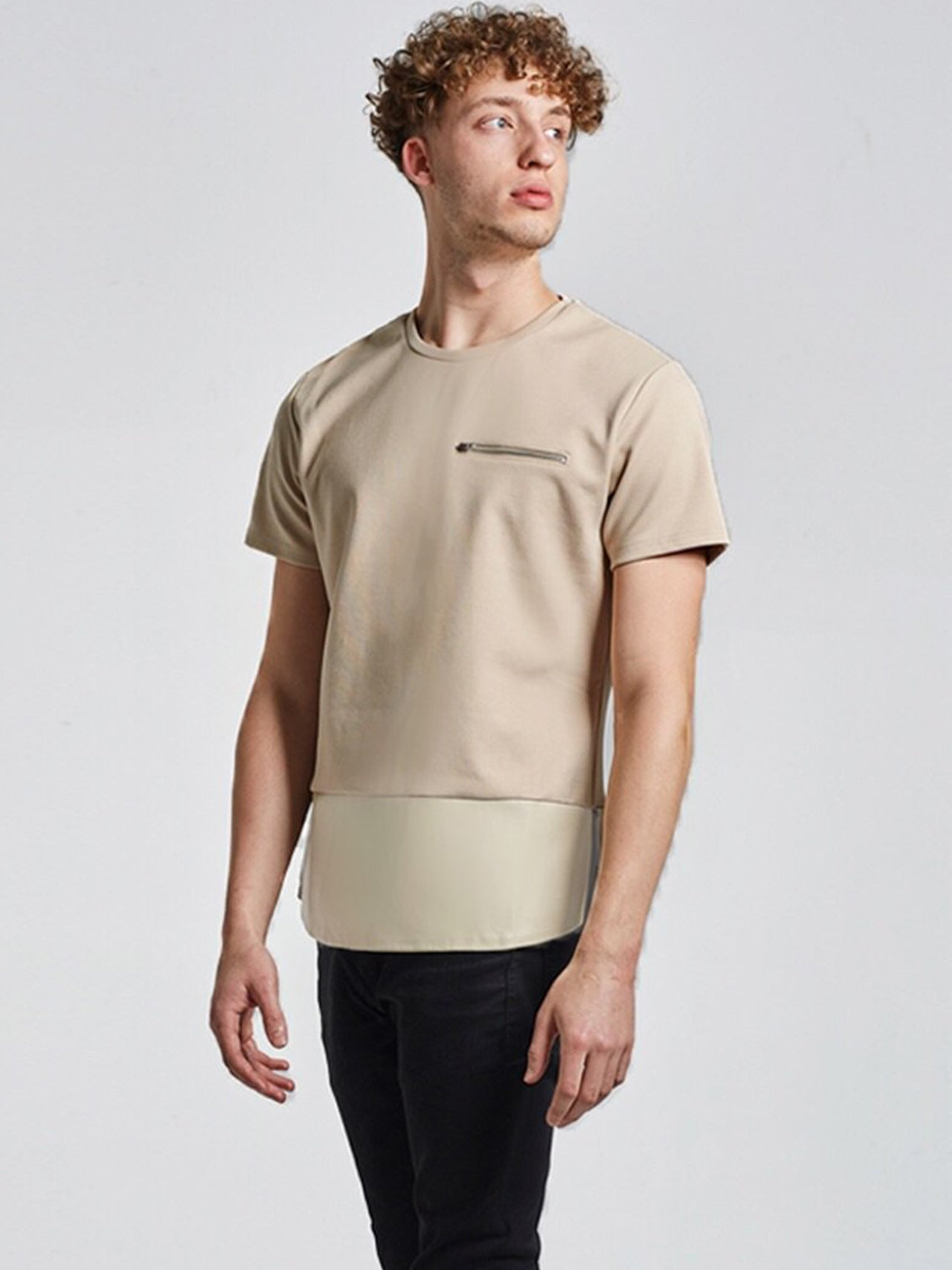 NU1 Patch Leather T Shirt