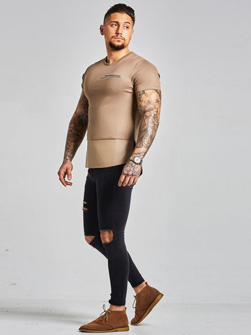 NU3 Patch Leather T Shirt