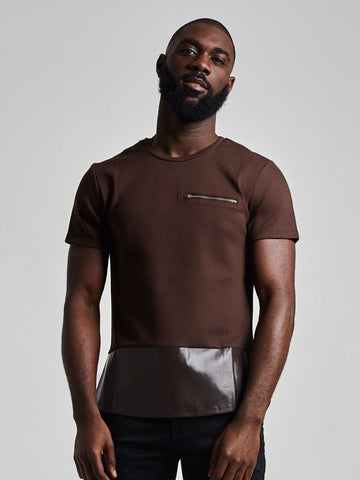 NU5 Patch Leather T Shirt