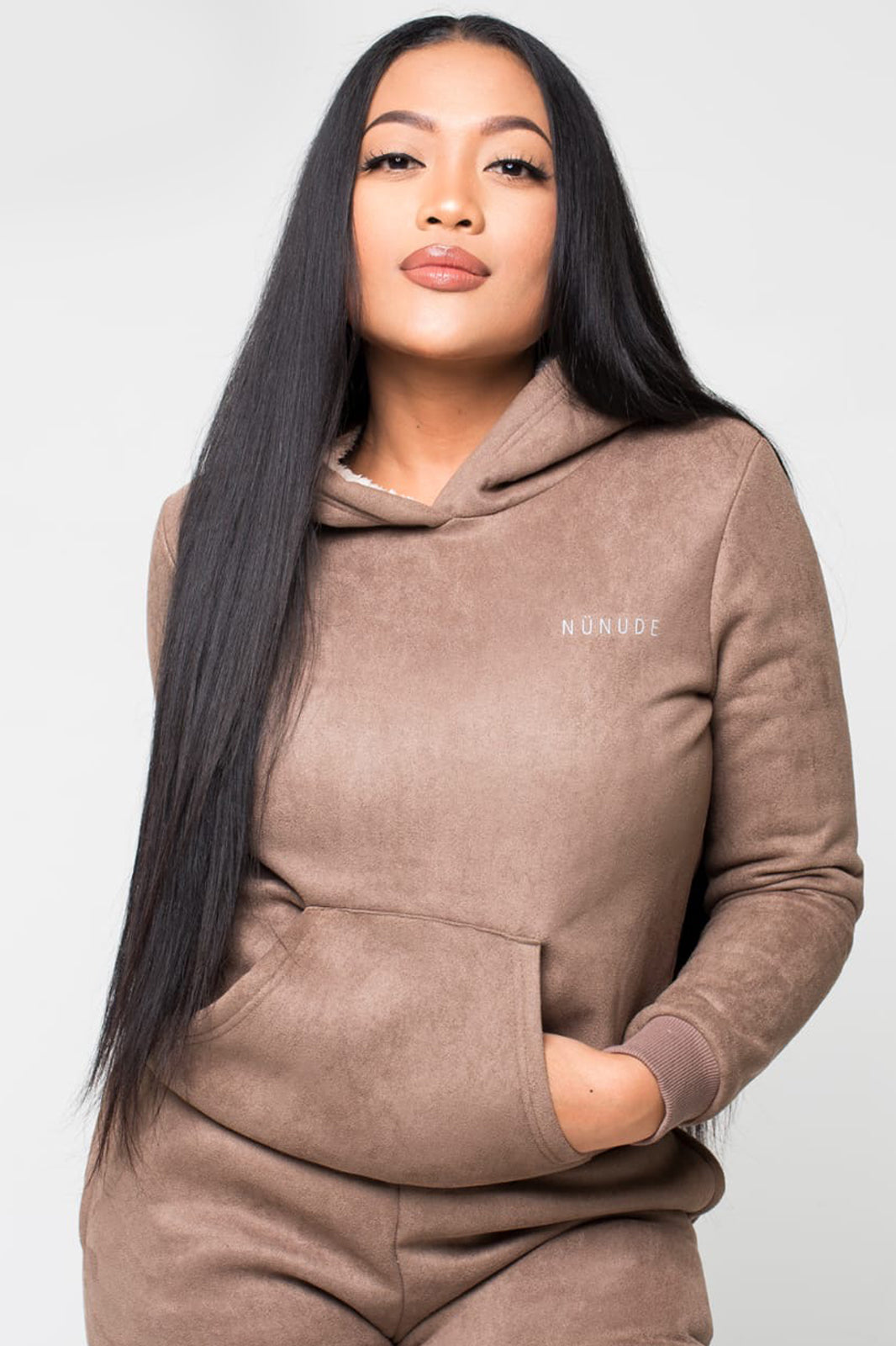 NU4.5 Faux Suede Non Cropped Thermal Tracksuit