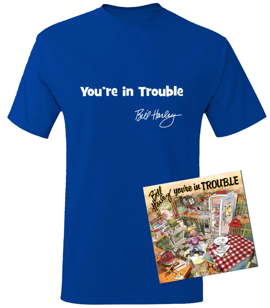 You're in Trouble Tee & CD Combo