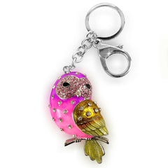 cute birds detachable keychains