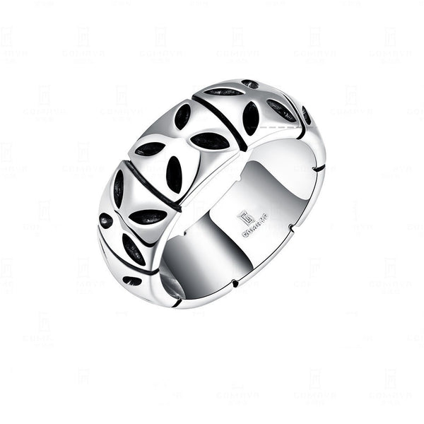 European Stainless Steel Retro Carve Pattern Men Ring Jewelry Clothing Accessories