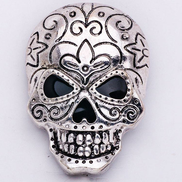 Punk Gothic Rock Alloy Skull Head Brooch Pin Accessories