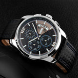 SKMEI 9106 Fashion PU Leather Band Waterproof Analog Men Wrist Watch