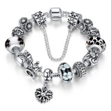 Tibetan Queen Crown Chain Crystal Rhinestone Glass Beads Bracelet