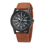 XINEW Men Military Quartz Canvas Strap Watch Auto-date Outdoor Sports Casual Male Watches