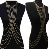 Women Tassel Sexy Beach Crossover Waist Body Chain Necklace