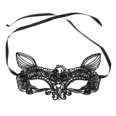 Black White Sexy Lace Eye Cat Face Mask Masquerade Party