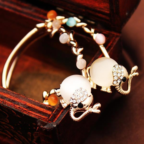 The (Gold) Opal Rhinestone Elephant