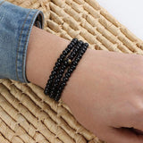 Cool Sandalwood Bead Black Bead Bracelet Necklace