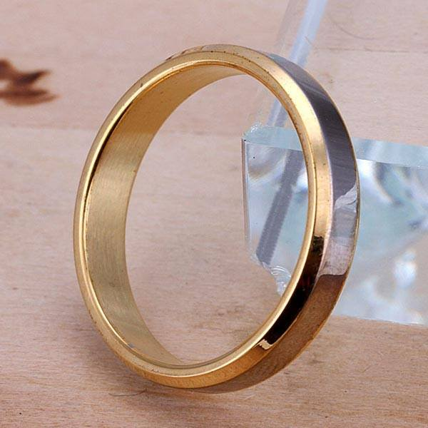 Valentines Stainless Steel Gold Forever Love Couple Rings Wedding