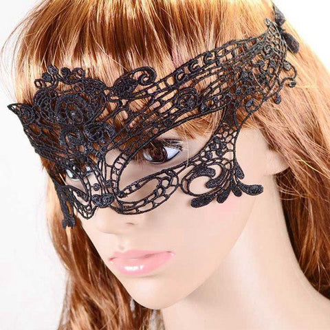 Venetian Sexy Black Hollow Lace Eye Mask Party Masquerade Mask