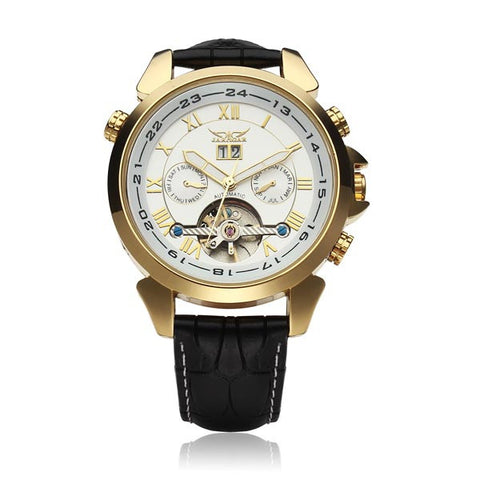 JARAGAR Automatic Mechanical Luxury Flywheel Men Wrist Watch
