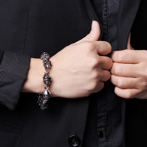 316L Stainless Steel Health Care Magnetic Stone Men Bracelet