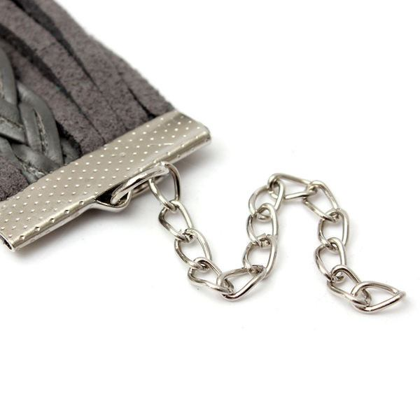 Grey Infinity Owl Hope Friendship Braided Leather Bracelet