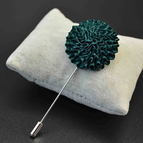 Lapel Flower Fabric Brooch Bouquet Stick Pin Men Accessories