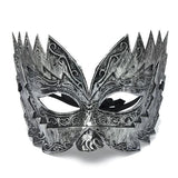 Men Vintage Jaggedly Engraved Eye Mask Venetian Masquerade Mask