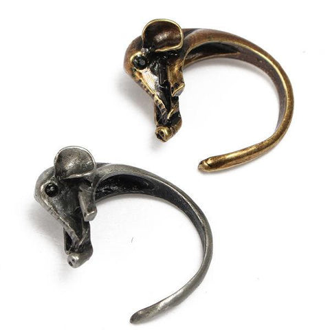 Vintage Cute Animal Elephant Adjustable Wrap Ring For Women