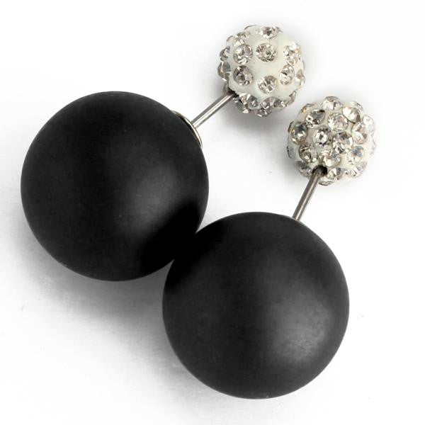 Double Sides Balls Ear Studs