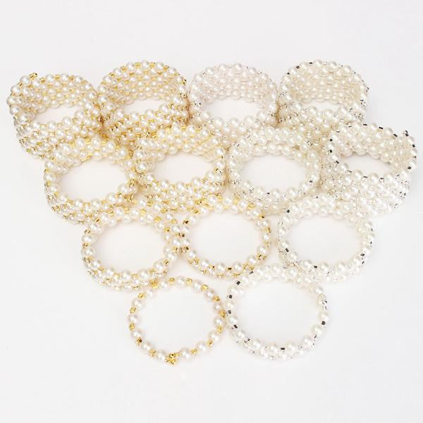 Pearl Multilayer Winding Wide Bracelet