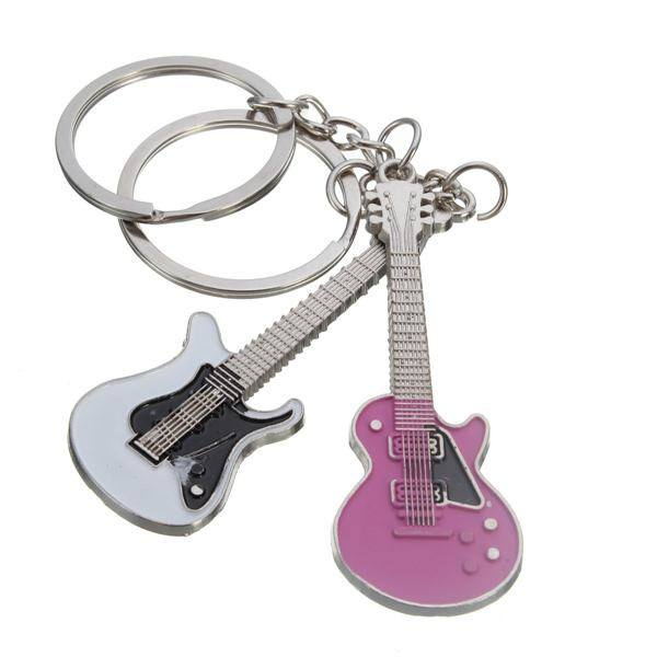 Mini Guitar Bass Musical Instrument Pendant Couple Key Chain Gift