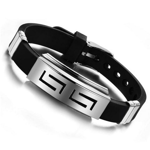 Black Men Punk 316L Steel Adjustable Bangle Bracelet Jewelry Gift