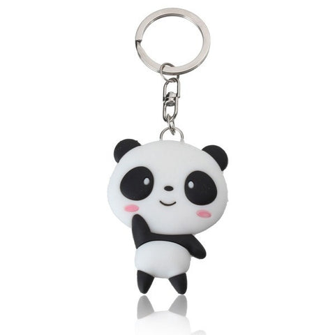 Cute Silicone Cartoon Panda Keyring Exquisite Gifts