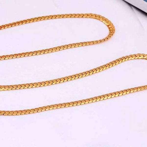 Kuniu 18K Gold Plated Snake Chain 4mm Necklace For Men Jewelry