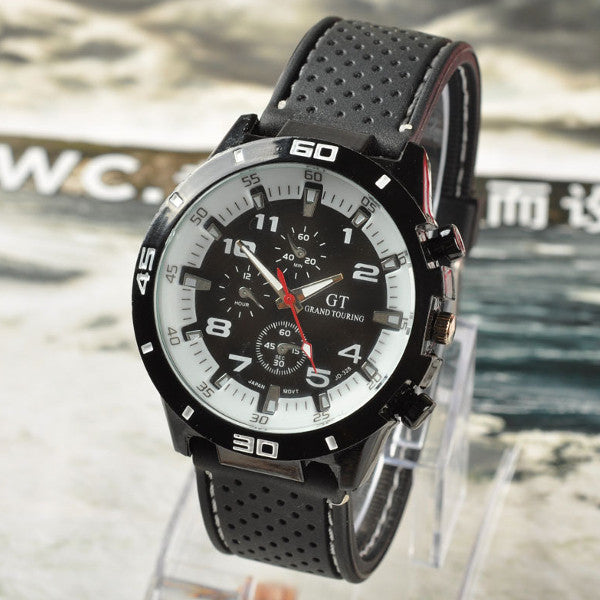 Silicone Band Analog Sport Watch