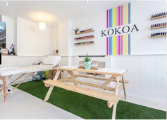 Kokoa eco beauty bar salon nails massage eco friendly waxing vegan