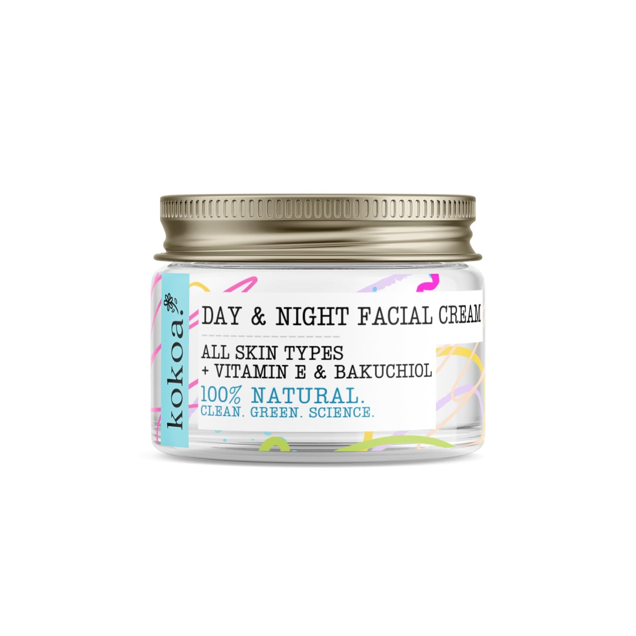 Day & Night Facial Cream with Bakuchiol & Vitamin E PRE ORDER FEB 14TH - Kokoa Eco Beauty