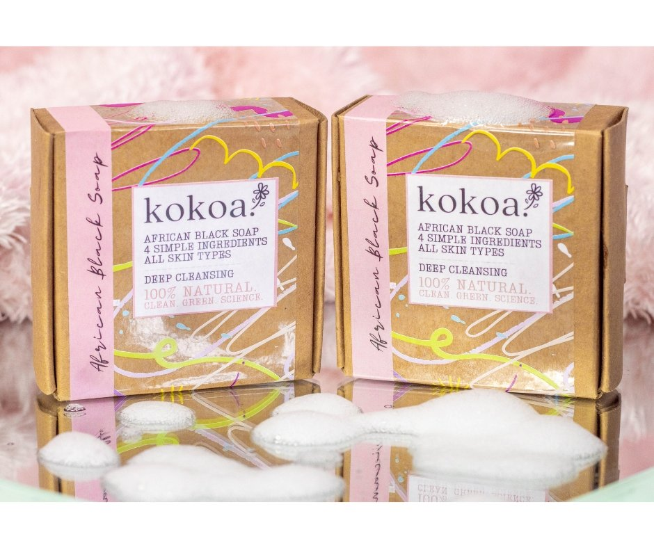 Kokoa's 100% Raw, Authentic, Organic, Traditional African Black Soap ~ Ghana - Kokoa Eco Beauty