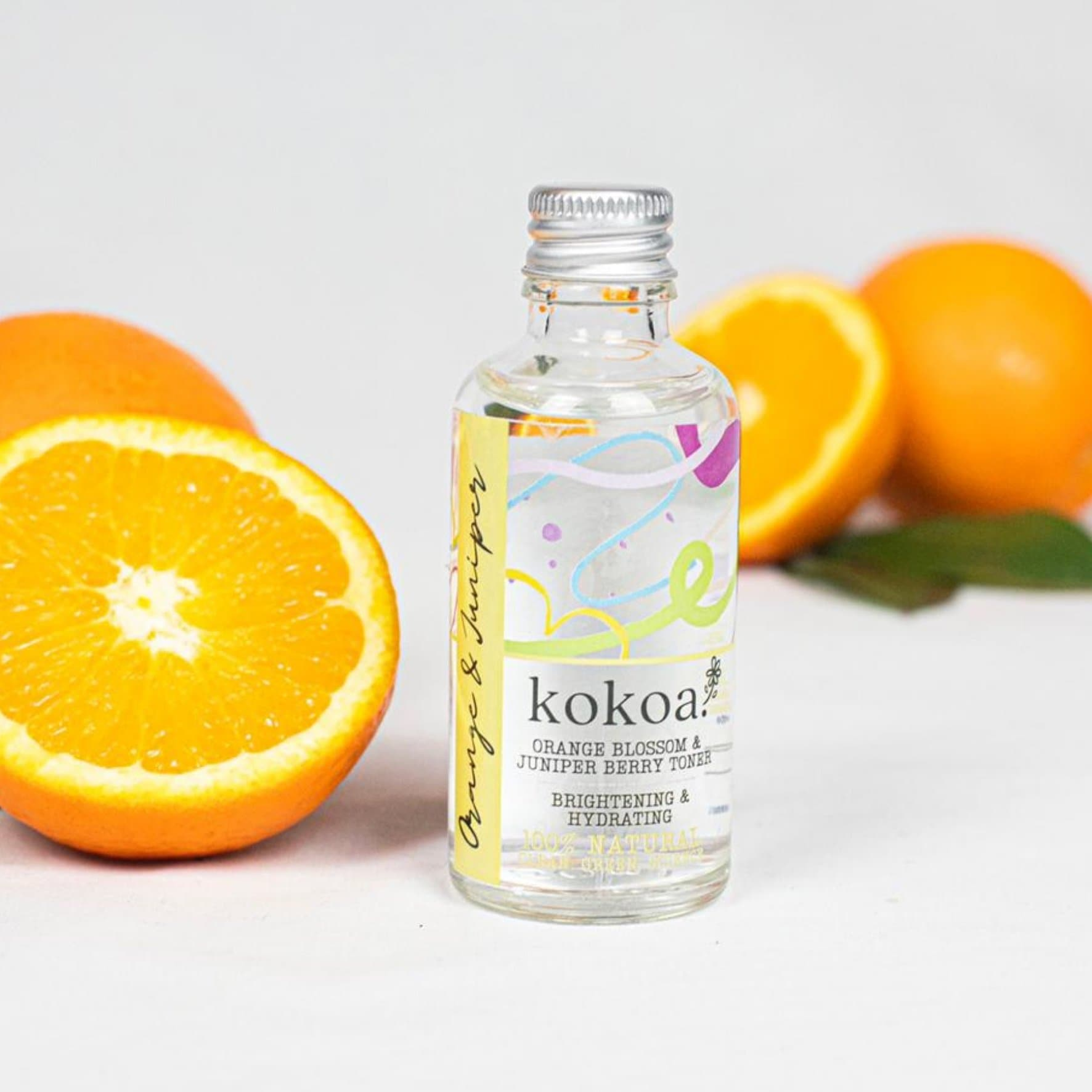 Kokoa's Orange & Juniper Berry Brightening & Skin Clearing Toner. With Glycerin, Willow Bark & Niacinamide - Kokoa Eco Beauty