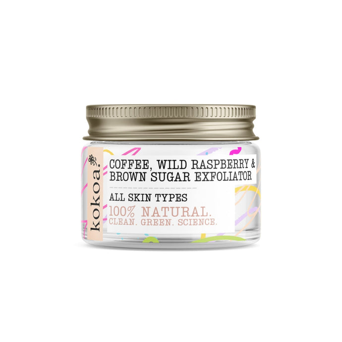 Kokoa's Organic Coffee, Wild Raspberry & Brown Sugar Facial Exfoliator - Kokoa Eco Beauty