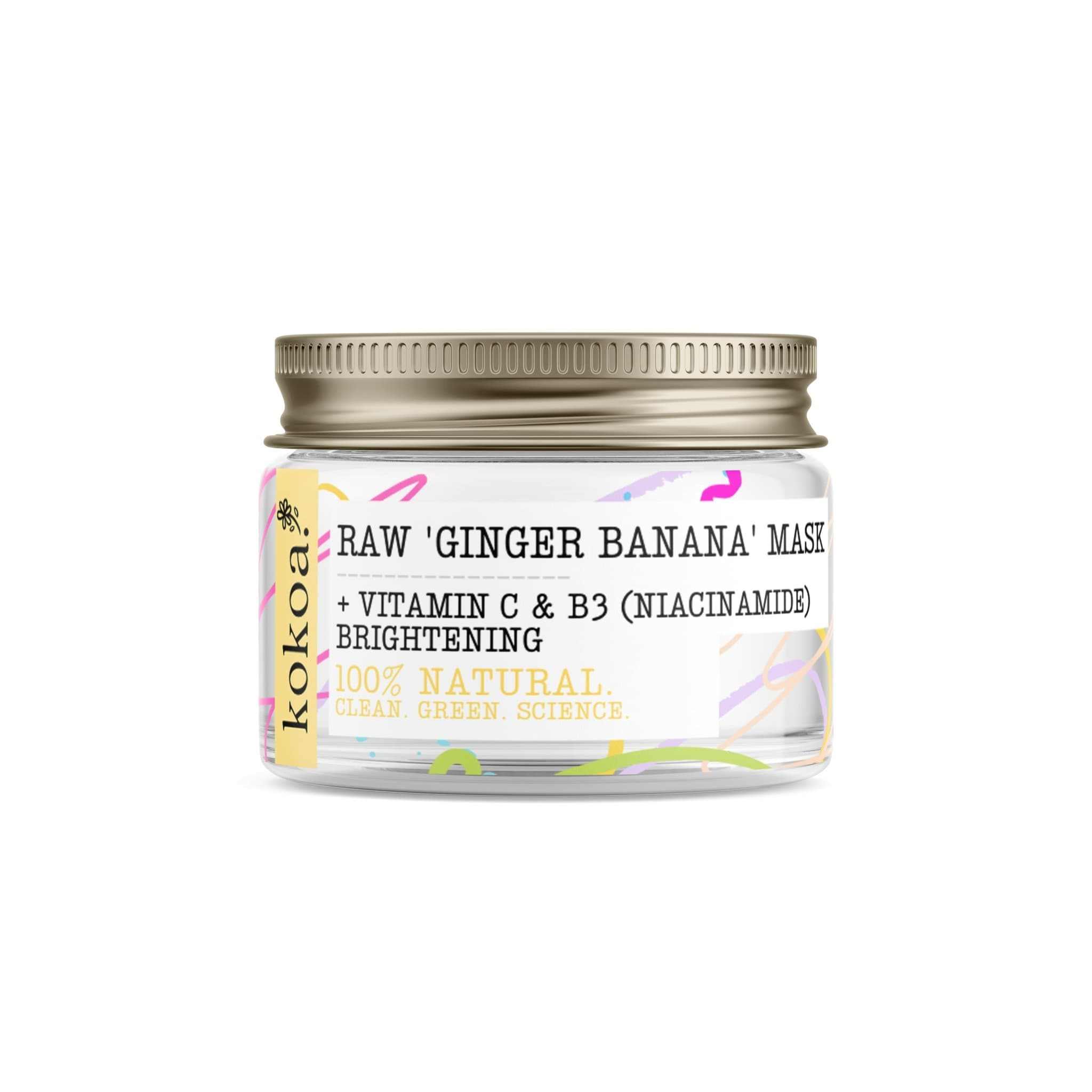 Raw Ginger Banana Brightening Niacinamide Clay Mask - Kokoa Eco Beauty