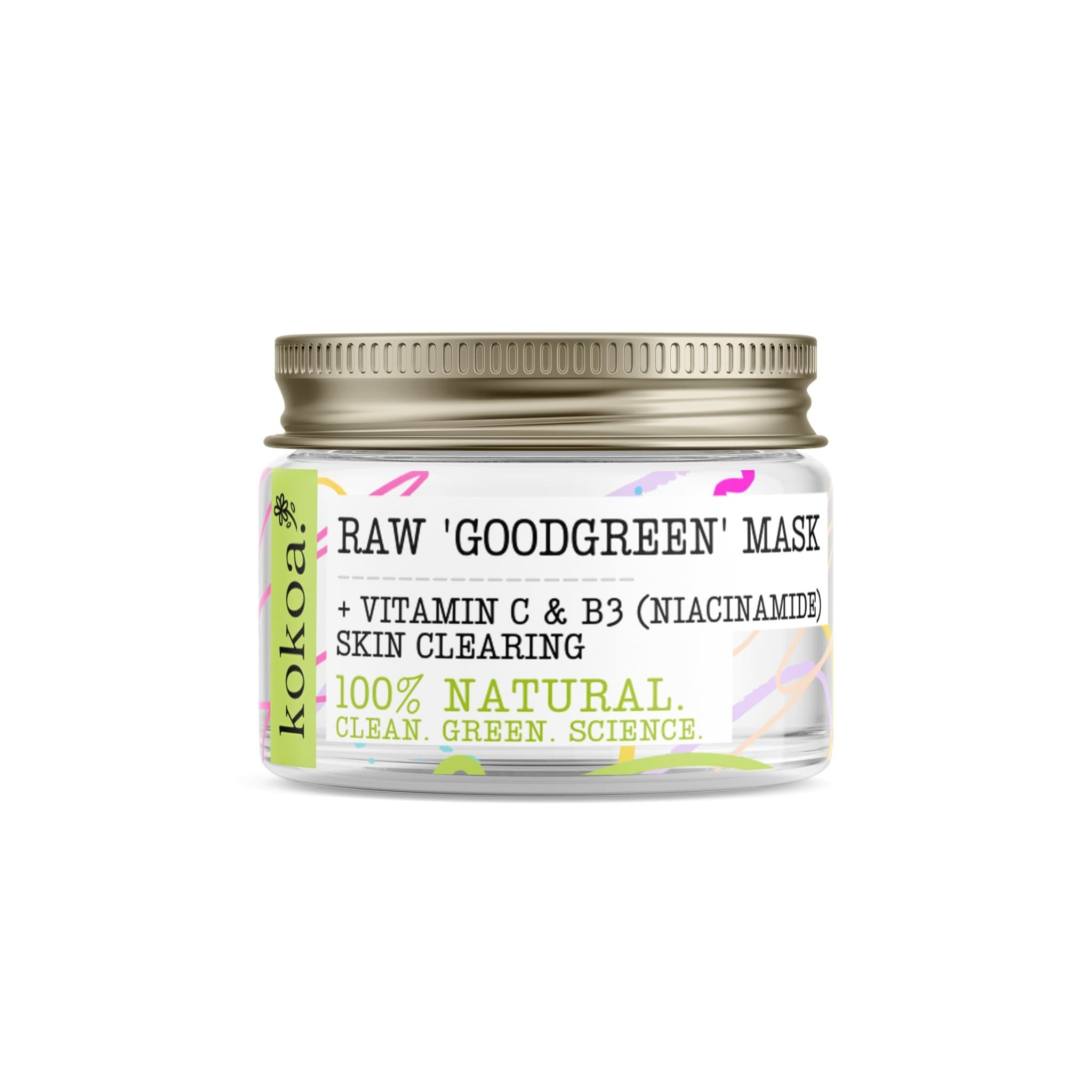 Raw Good Green Anti Acne Niacinamide Clay Mask - Kokoa Eco Beauty