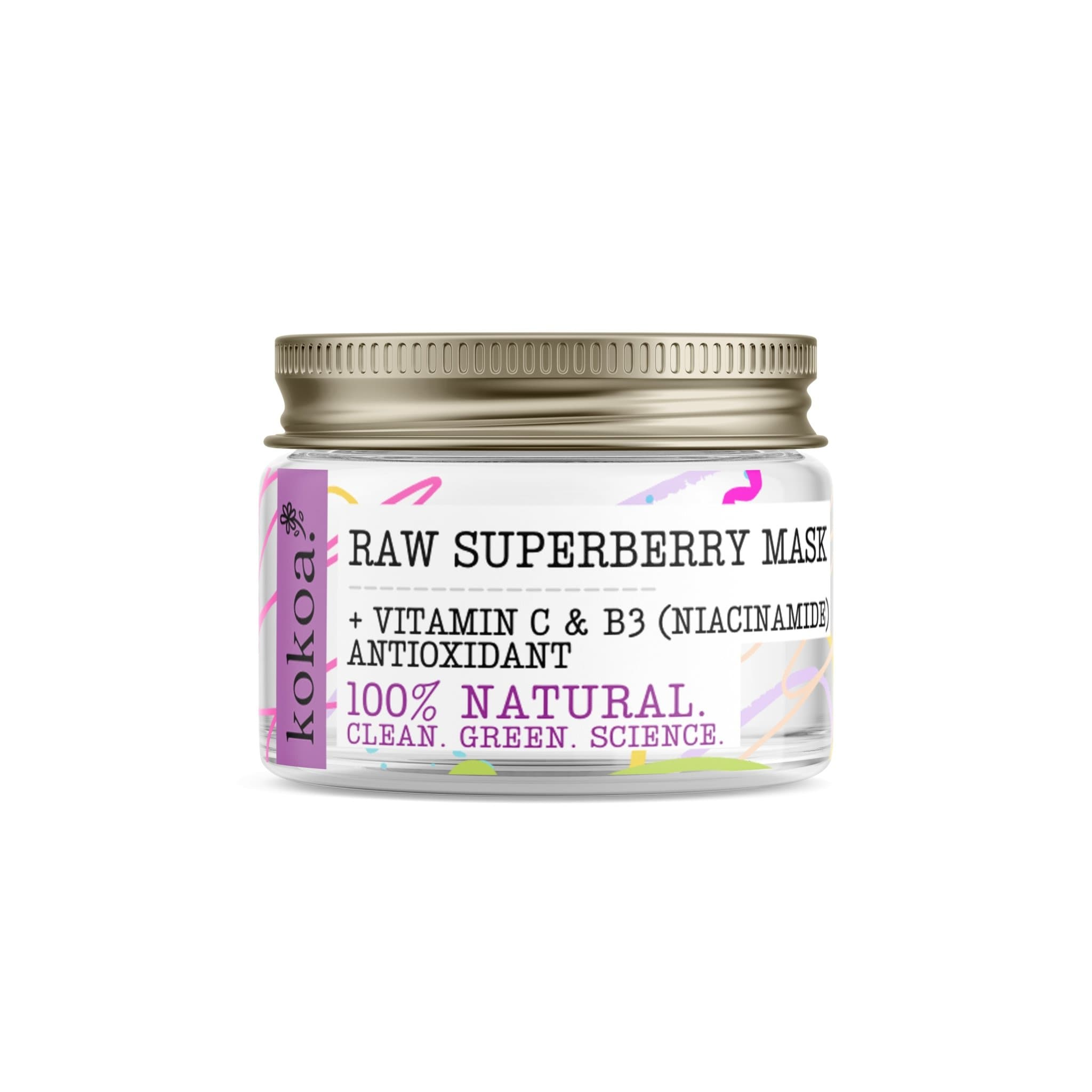 Raw Superberry Clay Mask - Kokoa Eco Beauty