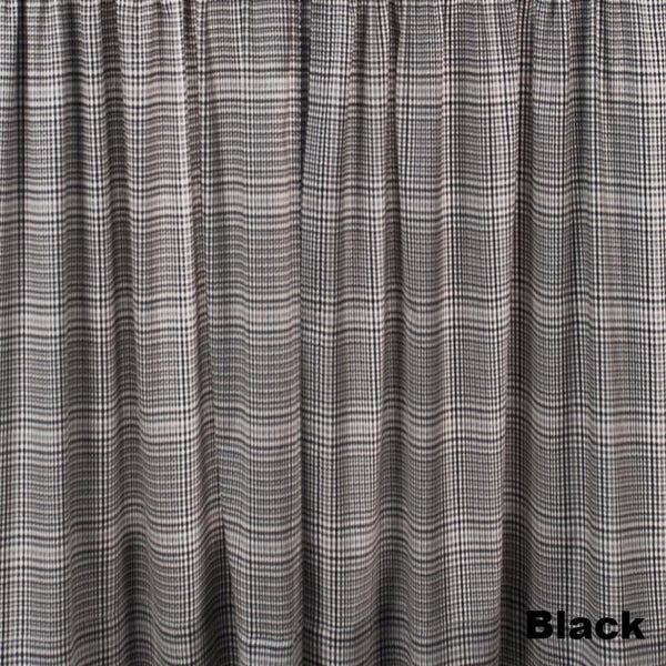 Closeup of Black Morrison Kitchen Valance & Tier Curtains fabric