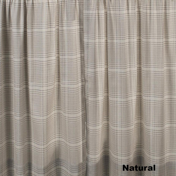 Closeup of Natural Morrison Kitchen Valance & Tier Curtains fabric