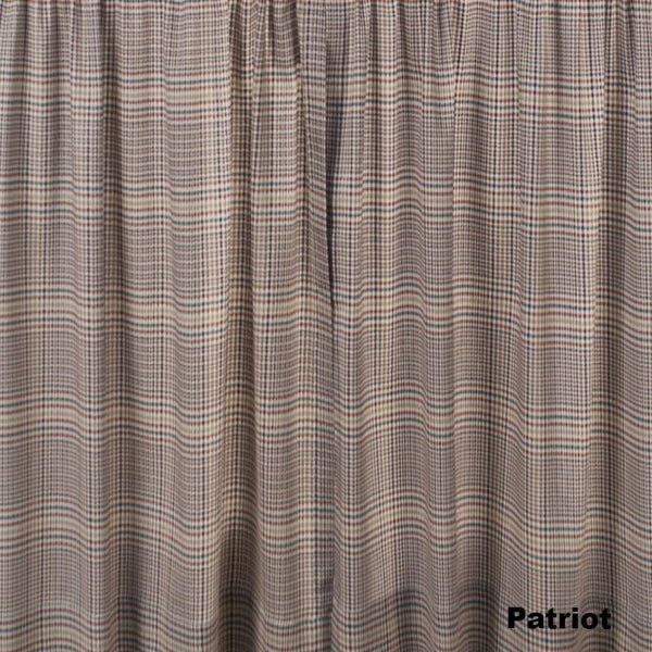 Closeup of Patriot Morrison Kitchen Valance & Tier Curtains fabric