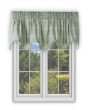 Harrington Scallop Lined Valance