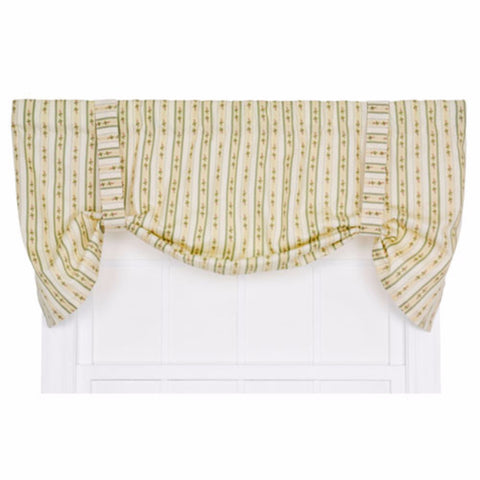 White Balloon Shade Trousseau Lace Balloon Shade With