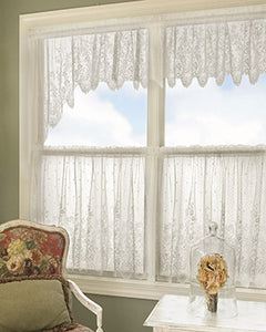Floret Lace Tier And Valance