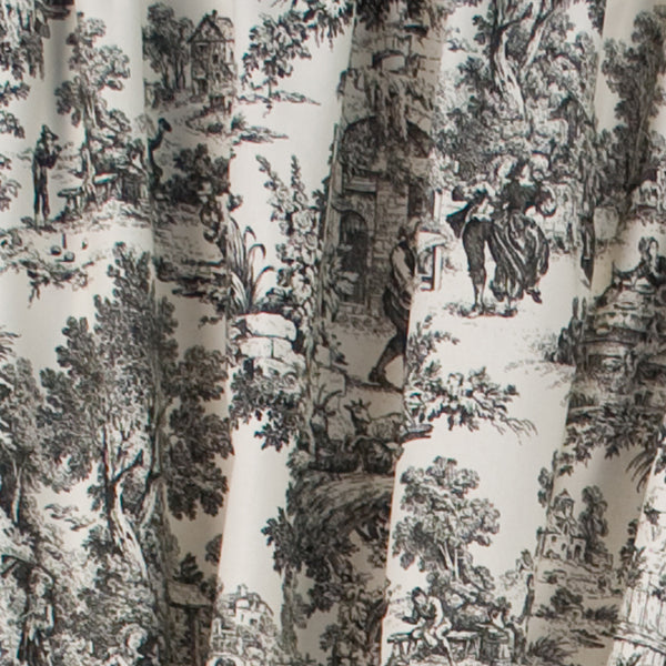 Victoria Park Toile Tailored Panel Pairs with Tiebacks